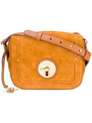 See By Chloe Fold Over Closure Crossbody Bag Brown