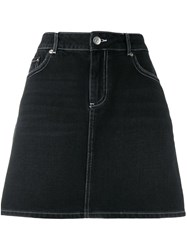 Ganni Denim Mini Skirt Black