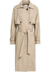 Joie Cotton Twill Trench Coat Neutral
