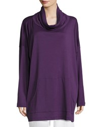 Eskandar Pima Cotton Monks Top Purple