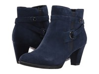 Anne Klein Chelsey Navy Suede Women's Shoes Blue