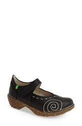 Women's El Naturalista 'Yggdrasil' Leather Mary Jane Flat Black