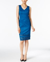 Thalia Sodi Faux Suede Sheath Dress Only At Macy's Nocturnal Blue