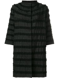 Clips Ruffle Tiered Coat Black