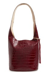 Elizabeth And James Finley Courier Hobo Red Oxblood