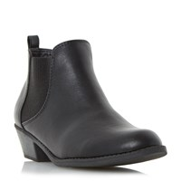 Head Over Heels Piro Chelsea Elastic Ankle Boots Black