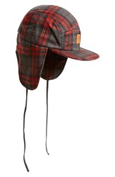 Men's Obey 'Clyde' Ear Flap Plaid Hat