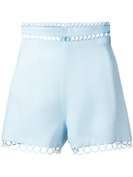 Zimmermann Winsome' Eyelet Trimmed Shorts Blue