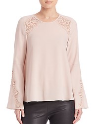 Bcbgmaxazria Chrystie Long Sleeve Top Bare Pink