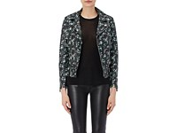 Saint Laurent Women's Floral Print Moto Jacket No Color