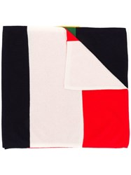 Chinti And Parker Colour Block Scarf Blue