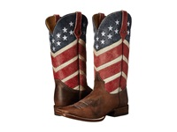 Roper American Flag Round Toe Boot Brown Cowboy Boots