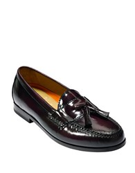 Cole Haan Pinch Grand Tassel Leather Loafers Burgundy