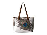 Elliott Lucca Aria Small Tote White Peacock Tote Handbags Multi
