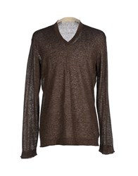 Spina Knitwear Jumpers Men Dark Brown