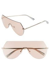 Elizabeth And James Johnston 138Mm Rimless Shield Sunglasses Light Gold Brown Light Gold Brown