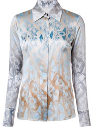 Sophie Theallet Abstract Print Shirt Blue