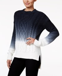Calvin Klein Jeans Ombre Cable Knit Sweater Night Navy