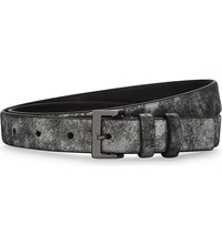 The Kooples Iridescent Leather Belt Sil06