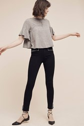 Anthropologie Paige Hunter High Rise Skinny Ankle Jeans Black