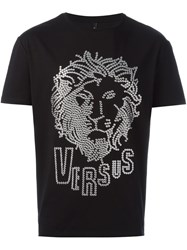 Versus Lion Head T Shirt Black