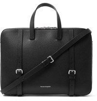 Alexander Mcqueen Full Grain Leather Briefcase Black