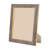Aerin Chocolate Shagreen Frame 8X10
