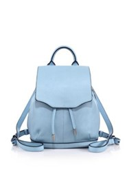 Rag And Bone Pilot Mini Leather Backpack Light Blue