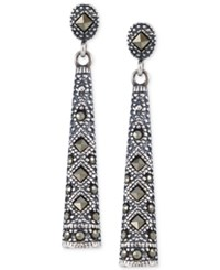Giani Bernini Marcasite Linear Post Earrings In Sterling Silver