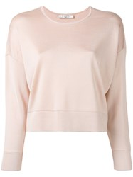 Lanvin Cropped Knitted Top Nude Neutrals