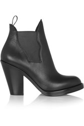 Acne Studios Star Leather Ankle Boots Black