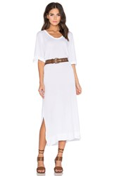 Stateside Royal Supima Jersey Light Scoop Neck Short Sleeve Maxi Dress White