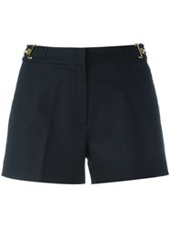 Michael Kors Clasp High Waisted Shorts Blue