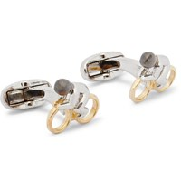 Paul Smith Cyclist Silver And Gold Tone Cufflinks Gold