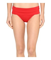 Jantzen Solids Shirred Waist Bottom Lipstick Red Women's Swimwear