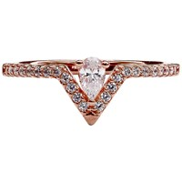 Carat London Victoria Collection Pave Ring Rose Gold