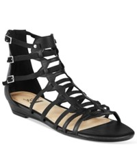 Impo Abella Gladiator Wedge Sandals Women's Shoes Black