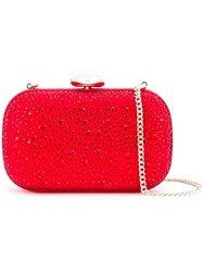 Love Moschino Embellished Clutch Red