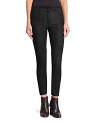 Joe's Jeans Charlie High Rise Leather Skinny Faded Black