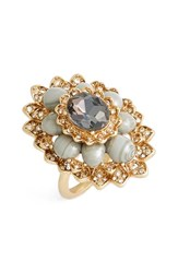 Marchesa Women's 'Sunrise' Cluster Ring