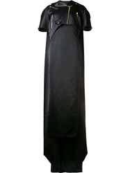 Moschino Long Cape Biker Jacket Black