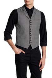 John Varvatos Notch Lapel Vest Black