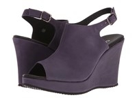 Cordani Wellesley Eggplant Women's Wedge Shoes Purple