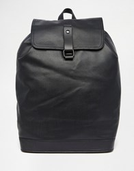 Asos Smart Backpack With Sleek Fastening Black