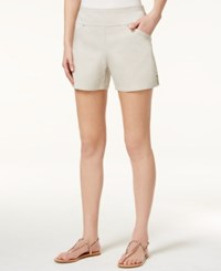 Inc International Concepts Pull On Curvy Fit Shorts Only At Macy's Toad Beige