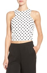 Leith Women's Polka Dot Cutaway Tank