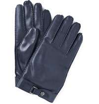 Valentino Leather Gloves Blue