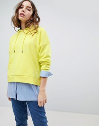 Only Neon Bright Hoodie Green