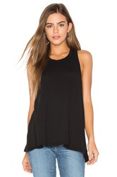 James Perse Jersey A Line Tank Black