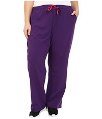 Jockey Plus Size Modern Convertible Drawstring Waist Pants Eggplant Women's Casual Pants Purple